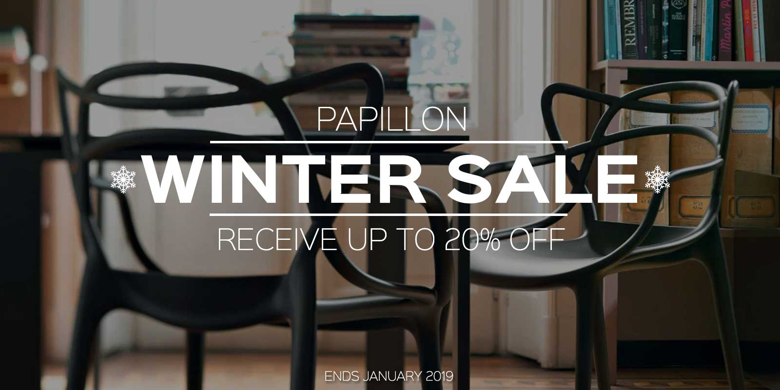 Papillon Interiors Winter Sale 2018 - Kartell