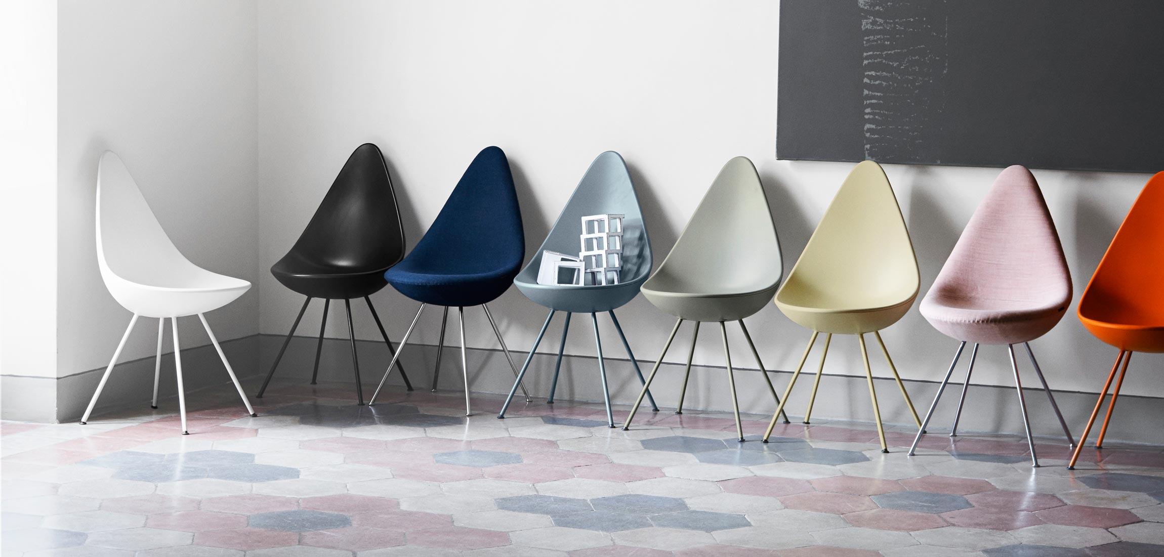 Fritz Hansen Drop Chair Colours