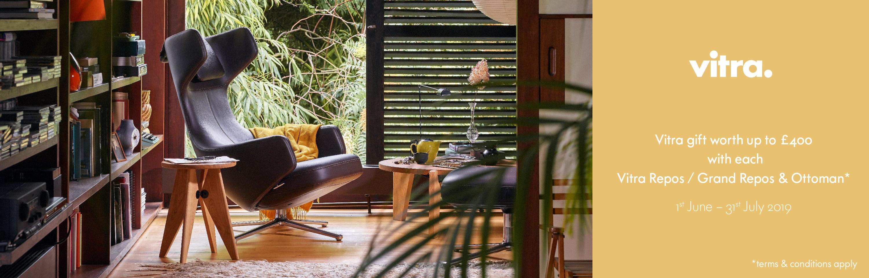 Vitra Summer 2019 Free Gift Promotion Repos Lounge Chair & Ottoman/Panchina