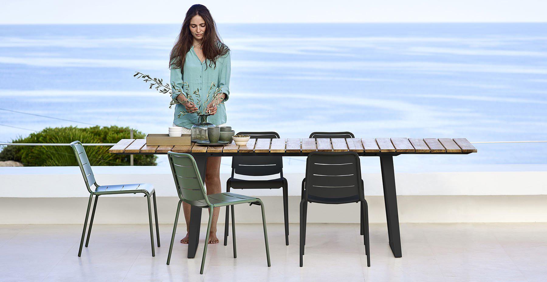 cane-line copenhagen dining table lifestyle
