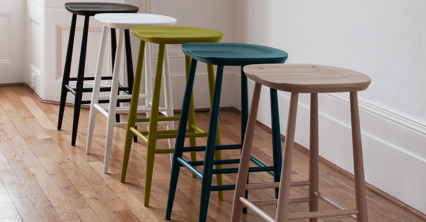 Ercol Originals Bar Stool Colours Lifestyle Image