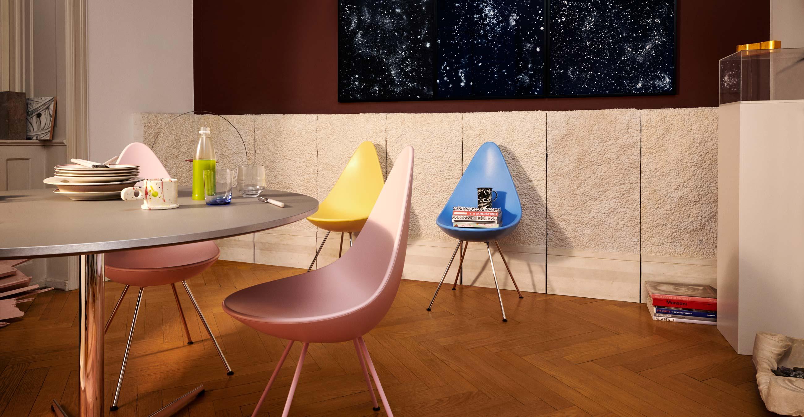 Fritz Hansen Drop Chairs Lifestyle - New Colours