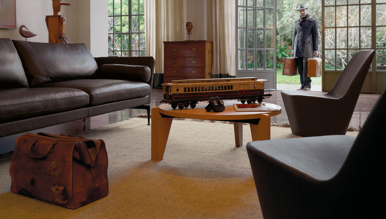 Vitra Monopod chairs - Suita sofa and Gueridon Bas table
