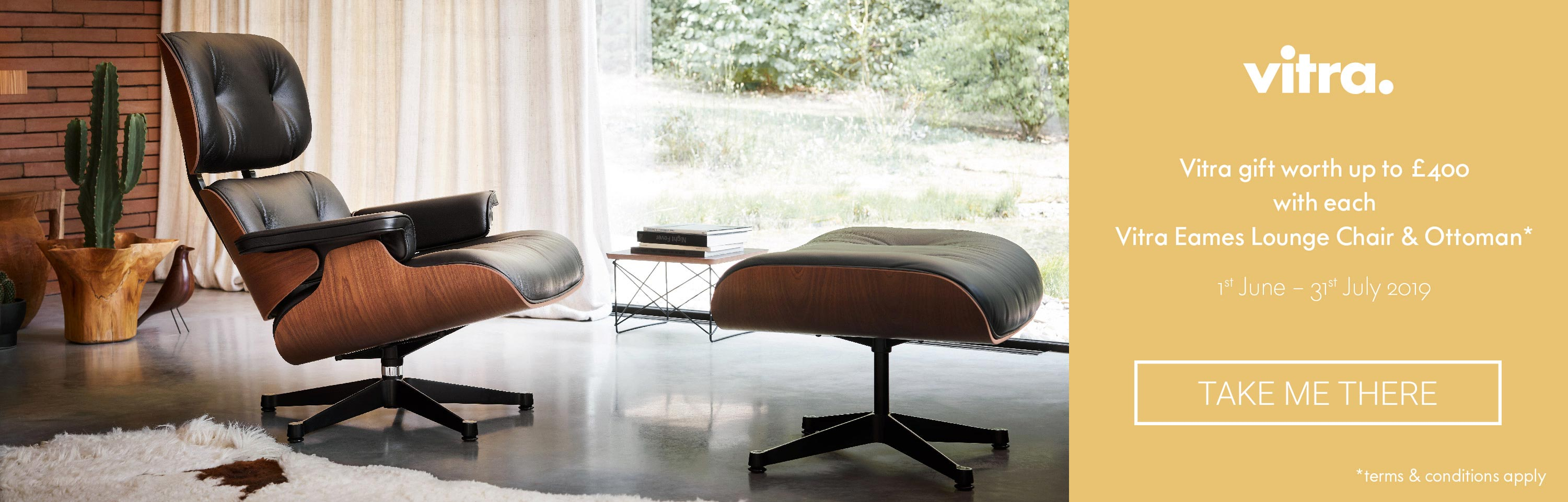 Vitra Summer 2019 Free Gift Promotion Eames Lounge Chair & Ottoman