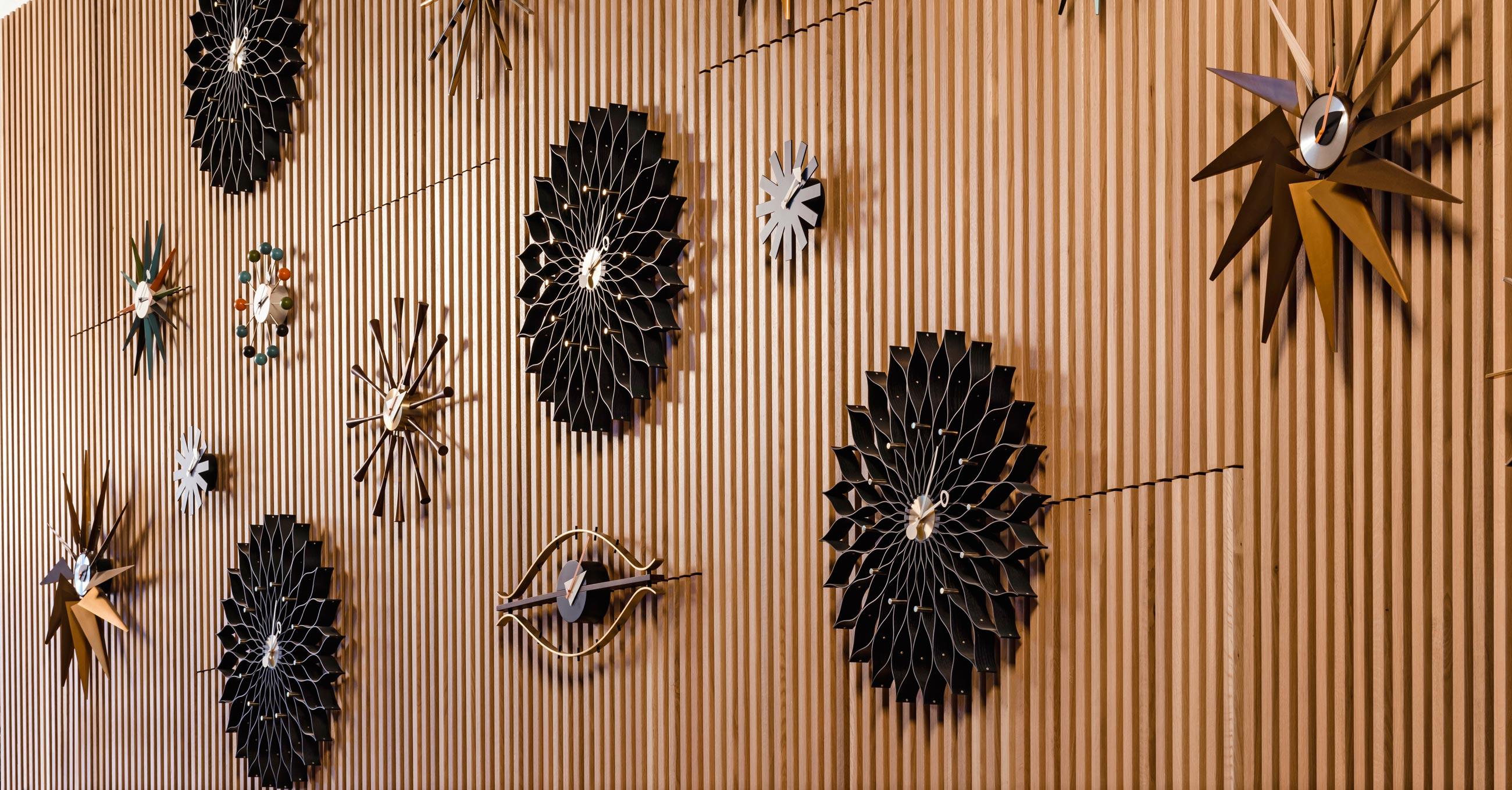 Vitra Wall Clocks - Sunflower Turbine Sunburst Eye Asterisk Ball Clock Spindle