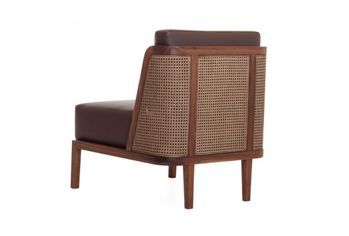 Throne Lounge Chair marries tradition and modernity, recalling Autoban's Art Deco influences. Designed by Autoban and manufactured by De La Espada for the Autoban brand.