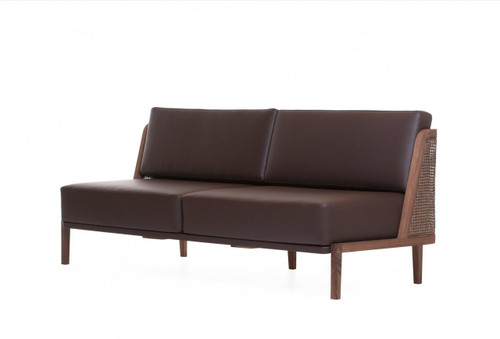 Throne Sofa marries tradition and modernity, recalling Autoban's Art Deco influences. Designed by Autoban and manufactured by De La Espada for the Autoban brand.