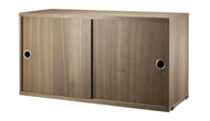 String System Sliding Door Cabinet - Walnut