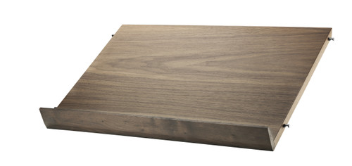 String System Wooden Magazine Shelf 58x30cm - Walnut