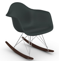 CLEARANCE Vitra Eames RAR Rocking Chair - Basalt & Dark Maple Front Angle Config