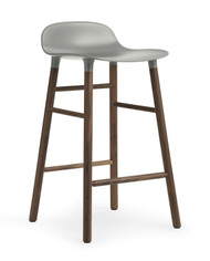 CLEARANCE Normann Copenhagen Form Barstool 65cm Grey & Walnut