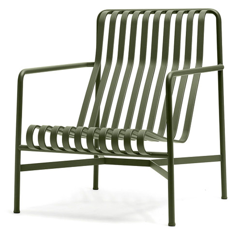HAY Palissade Lounge Chair High - Olive