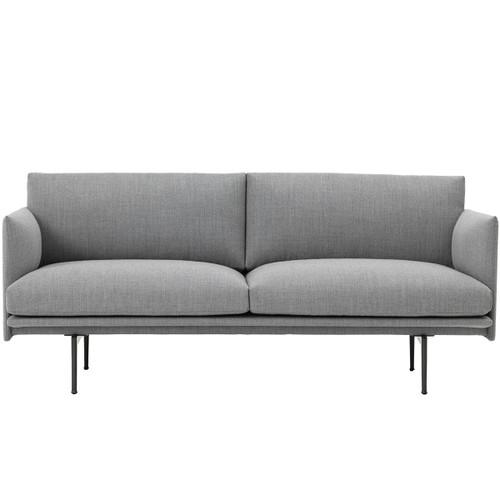Muuto Outline 2 Seater Sofa - Grey