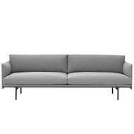 Muuto Outline 3 Seater Sofa - Steelcut Trio