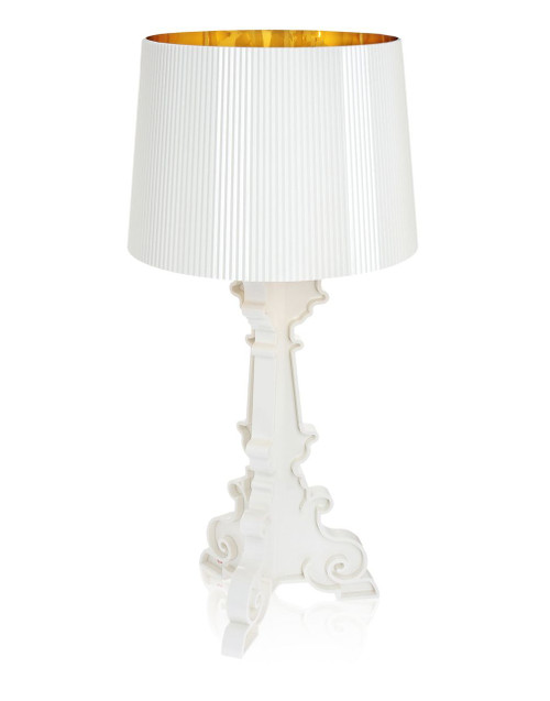 Kartell Bourgie Table Lamp - White-Gold Inside