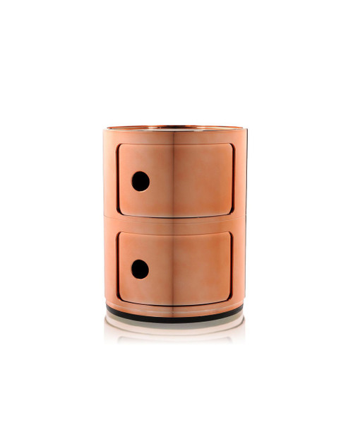 Kartell Componibili Storage Unit Metallic - 2 High Copper