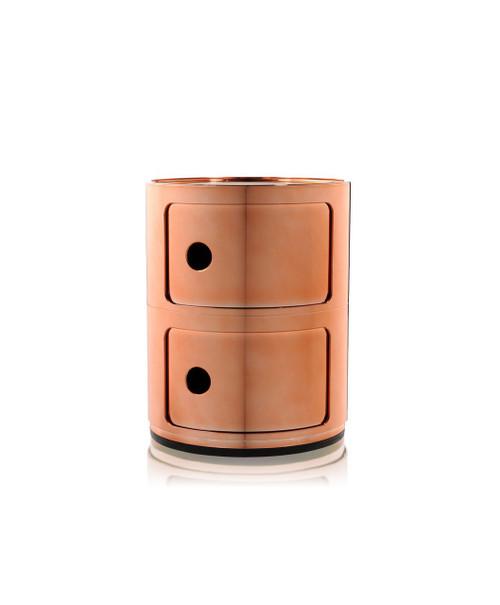 Kartell Componibili Storage Unit Metallic - 2 High Copper