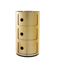 Kartell Componibili Storage Unit Metallic - 3 High Gold