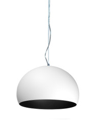 Kartell Small FL/Y Pendant Light - Matt Opaque White Below
