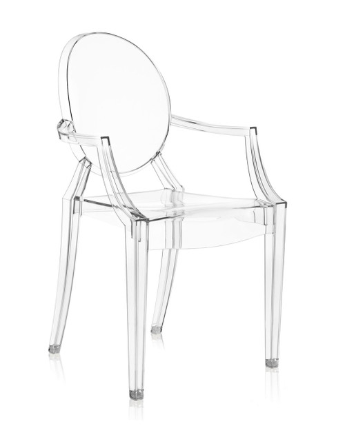Kartell Louis Ghost Chair Front Angle Crystal