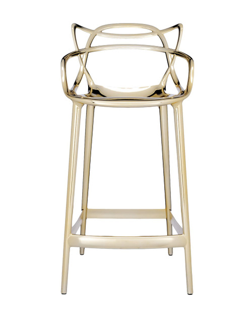 Kartell Masters Stool - Metallic Gold Front View