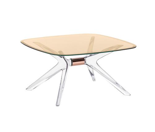 Kartell Blast Coffee Table - Square Bronze Top Bronze Leg
