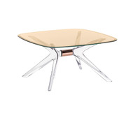 Kartell Blast Coffee Table - Square Bronze Top Bronze Leg