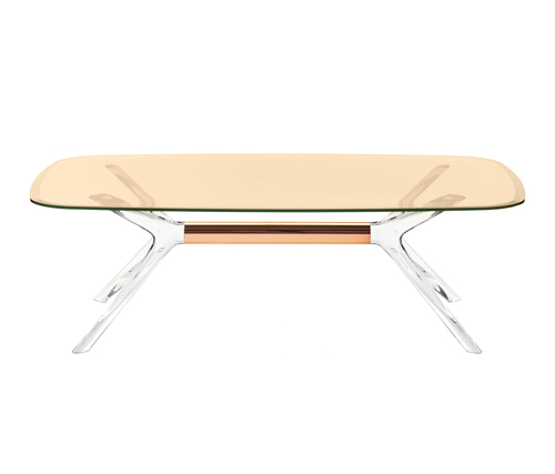 Kartell Blast Coffee Table - Rectangular Bronze Top Bronze Leg