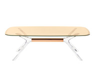 Kartell Blast Coffee Table - Rectangular Bronze Top Bronze Leg