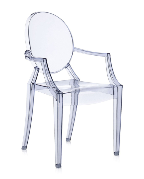 Kartell Louis Ghost Chair - Transparent Ice Blue (Sea Blue)