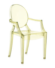 Kartell Louis Ghost Chair - Transparent Straw Yellow