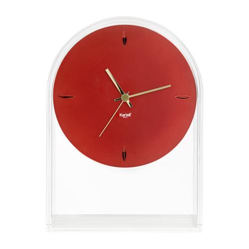 Kartell Air Du Temps Clock - Transparent/Red