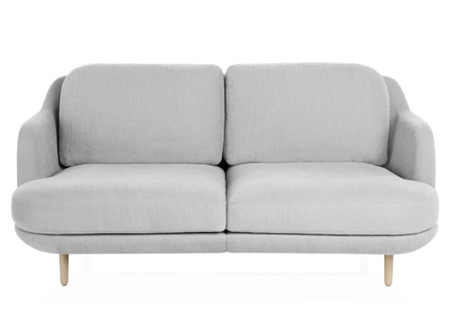 Fritz Hansen 2 Seater Lune Sofa, Linara Eucalyptus Fabric.