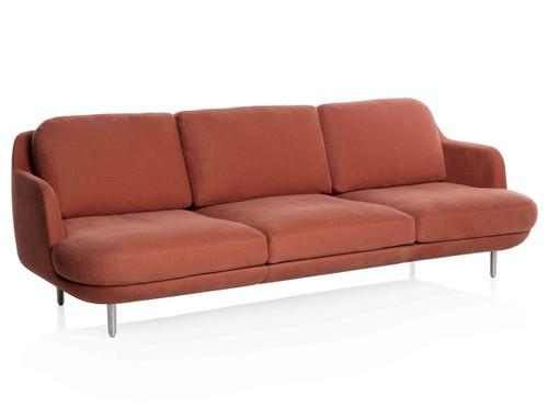 Fritz Hansen 3 Seater Lune Sofa, Linara 2494/118 Gingersnap Fabric
