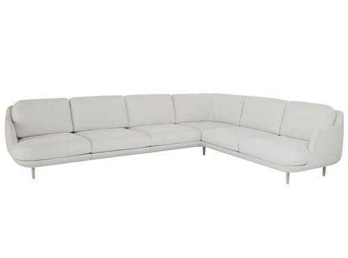 Fritz Hansen 6 Seater Lune Corner Sofa, Linara 2494/340 Grey Mist Fabric