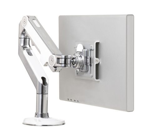 Humanscale M8 Single Monitor Arm Polished with White Trim