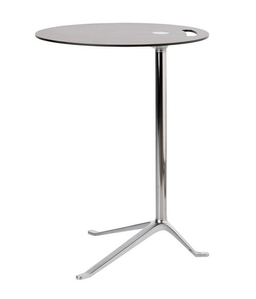 Fritz Hansen Little Friend Side Table Fixed Height Side Table Walnut Chrome