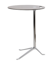 Fritz Hansen Little Friend Side Table Fixed Height Side Table Walnut Chrome