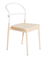 Petite Friture Dojo Chair - Solid Beech, White