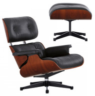Limited Edition Vitra Eames Lounge Chair & Ottoman - Mahogany