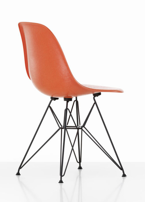 Vitra Eames Fiberglass DSR Chair Red Orange
