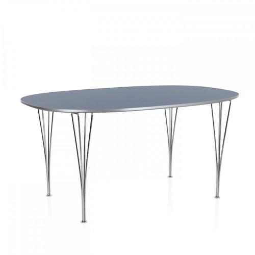 Fritz Hansen Super Elliptical Table Grey Laminate