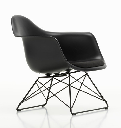 Vitra Eames Plastic Lounge Armchair LAR with Seat Pad