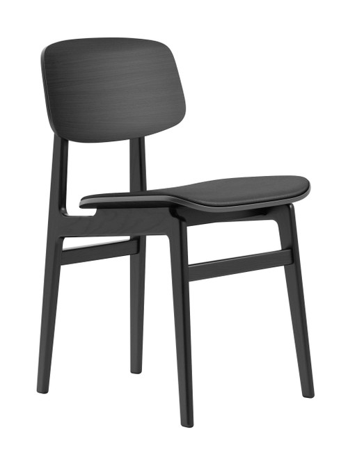 Norr11 NY11 Dining Chair Black Oak - Black Premium Leather