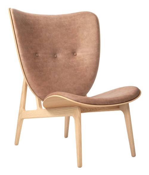 Norr11 Elephant Chair Natural Base Vintage Leather Camel
