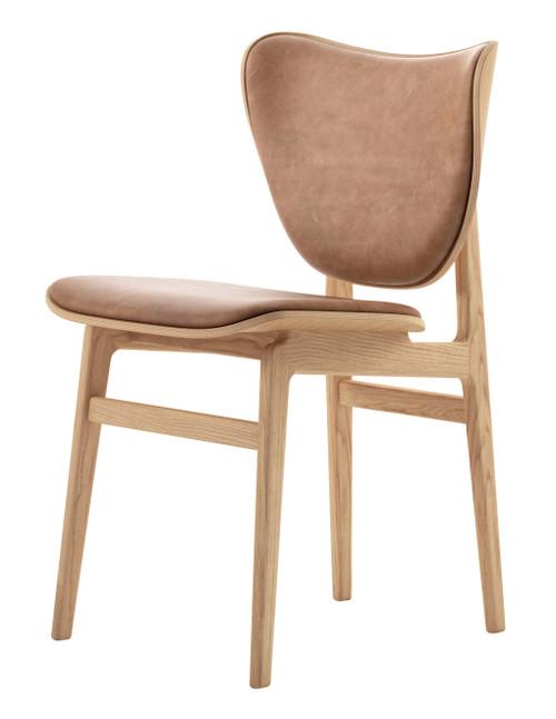 Norr11 Elephant Dining Chair Natural Frame Vintage Leather Camel
