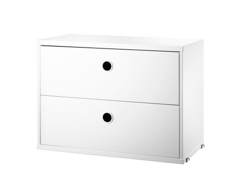 String 'System' Chest Of Drawers W58cm White