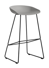 HAY About A Stool AAS 38 - High / Concrete Grey / Black