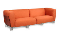 Kartell Pop Duo 3 Seater Sofa - Orange/Transparent