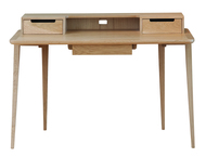 Ercol Treviso Desk - Oak - Front View